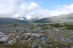 Alaska. White Summit (Traveling with Simone) Tags: mountain rugged whitepasssummit clouds valley rocks water