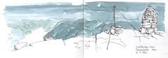 Preikestolen (jamesdyson) Tags: preikestolen norway ryfylke mountain fjord summit cairn sketch pencil watercolour