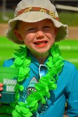 Staying cool (radargeek) Tags: slidethecity oklahomacity oklahoma waterslide konaice hat smile