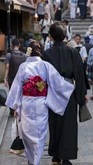 Romantic Couple (HansPermana) Tags: kyoto japan geisha geiko kimono traditional gion costume dress dressingup