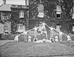 Good Counsel College, New Ross, gymnastic : commissioned by Rev. Father Conlon (National Library of Ireland on The Commons) Tags: ahpoole arthurhenripoole poolecollection glassnegative nationallibraryofireland boys gymnasticsdisplay whiteflannels frontlawn goodcounselcollege gymnastics newross countywexford goodcounsel frthomasaconlon conlon rector acrobatics exercise lawn frthomasaconlan