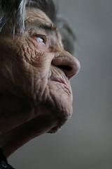 In misery we unite (dzepni_oktavo) Tags: old age nana granny melancholy emotive portrait loneliness sorrow gesture hands veins skin