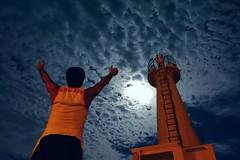 20160818_233604 (Luclasaw) Tags: tokyo shikinejima niijima moon lighthouse summer japan port sea 東京 式根島 灯台 新島 夏 湊 桟橋 日本