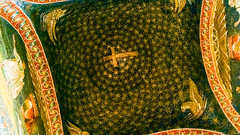 Ceiling of Mausoleo di Galla Placidia, Ravenna (Andy Hay) Tags: 2007 galla di gallaplacidia holidays italy lightroom mausoleo mausoleum mosaic placidia pleiades:depicts=393480 ravenna emiliaromagna