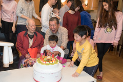 Fight For The Candle (camike) Tags: 28mmf18g d750 lenses birthday cake cousin dessert grandpa niece uncle