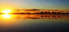 Lake Ladora Sunrise (Circled Thrice) Tags: sun sunrise lake water wetland reflection sky serene outside outdoors outdoor lakeladora rockymountainarsenal nationalwildliferefuge goldenhour landscape commercecity aurora colorado co canon eos rebel t3i sigma