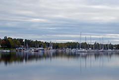 Parked (STTH64) Tags: sky water longexposure clouds boats vessels sea seaside vaasa