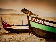 Nazare (Colormaniac too) Tags: nazare portugal fishermen fishingboats boats history memory tradition travel beach europe topaztextureeffects flypapertextures