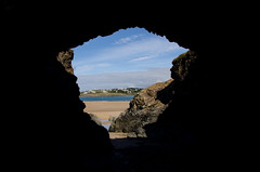 Cave (kevincardosi) Tags: cave padstow cornwall beach river