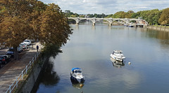 The view from Twickenham Bridge (Barry C. Austin) Tags: richmondlock riverthames