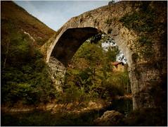 El Puente sobre el Ro Dobra (Geli-L) Tags: textura nature ro puente natureza asturias medieval dobra onis amieva laolladesanvicente bestevercompetitiongroup creativephotocafe bewiahn