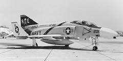 152253 McDonnell F-4N VF-84 AE201 (eLaReF) Tags: bw white black airplane aviation navy aeroplane rhino phantom naval miramar usn f4 mcdonnell spook navalaviation phantomii f4n knkx nkx vf84 ae20 152253