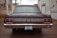 Fairlane details (Vorona Photography) Tags: door urban usa classic ford car america photo washington cool nice automobile day state image south united picture first neighborhood photograph american alleyway vehicle americana local tacoma states collectors v8 taillights fairlane 1965 289 4dr worldcars