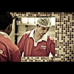 352/365. Stranger. (Anant N S) Tags: portrait people india love coffee photography 50mm dof heart pov stranger frenchfries maharashtra coffeemug 1855 pune mcdonald dries 55200 project365 portraitofastranger lensor anantns thelensor anantnathsharma