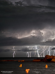 Lightning vertical inspiration (Francesco Magoga Photography) Tags: light sea seascape beach skyline nikon mare awesome shoreline naturallight genova bolt thunderstorm lightning nikkor seashore thunder luce manfrotto nationalgeographic thunderbolt orizzonte genovanervi marligure powerofnature magoga quintoalmare nikond3100 nikkor55300mmf4556gedvr francescomagoga