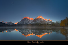 "Mount Kidd Sunrise, Alberta, Canada (Joalhi ""Around the World"") Tags: sun canada reflection sunrise kananaskis fire alberta wedgepond mtkidd coth5"