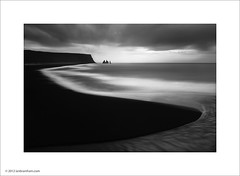 Vik, Iceland (Ian Bramham) Tags: ocean white black landscape dawn photo iceland atlantic vik headland vkmrdal ianbramham