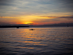 Sunset (Litrato Series) Tags: sunset sea canon boat kofc a1200
