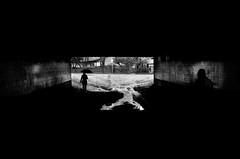 Tunnel Vision.. (Peter Levi) Tags: street city blackandwhite bw woman man blancoynegro monochrome umbrella 35mm mono sweden stockholm streetphotography documentary tunnel socialdocumentary x100 fujifilmx100 finepixx100 fujix100