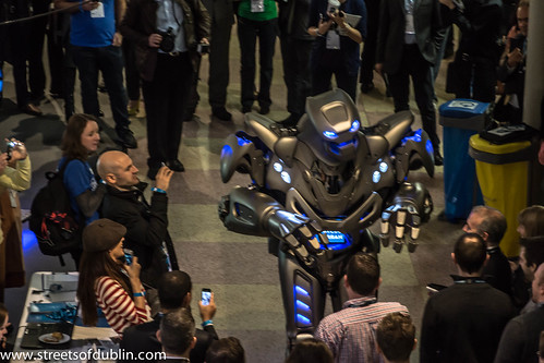 Web Summit Dublin 2012 - Titan The Robot Gatecrashes The Event