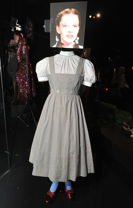 The Wizard of Oz - Judy Garland as Dorothy Gale Hollywood Costume - press view held at the Victoria and Albert Museum. London, England - 17.10.12 Daniel Deme/WENN.com