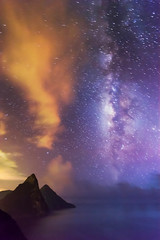St Lucia, the Pitons & the Milky Way (Baggers 2013) Tags: hot night clouds rainforest warm purple sticky caribbean bluehour storms stlucia milkyway pitons soufriere petitpiton grospiton flickrchallengegroup flickrchallengewinner