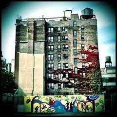 Upper West Side - NYC (cyndisuewho) Tags: nyc newyorkcity building mural watertower ivy upperwestside