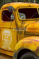 vintage yellow truck cab (jenntrans8877) Tags: old classic car alaska museum truck vintage ancient automobile antique antiquecar rusted transportation weathered trucks oldcars vintagecars outdated landtransportation