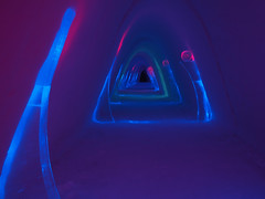 Ice hotel corridor (iPics Photography) Tags: travel winter light sculpture snow cold tourism ice finland hotel alley colorful village sweden corridor illuminated lapland accommodation passage igloo lainio