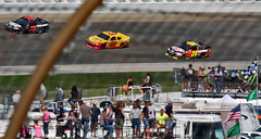 Infield and a Turn (spincast1123) Tags: blue summer people white cars wall race canon fence advertising illinois post pavement racing september vehicles numbers nascar barrier joliet 2012 blacktop chicagolandspeedway sponser 40d canon40d spincast1123 chaseforthechampionship