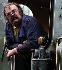 The Train Driver (Amber-Thomas) Tags: man train railway steam moustache driver isle wight havenstreet