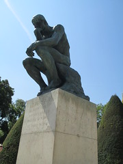The Thinker 1903, Auguste Rodin (1840-1917) Rodin Museum Paris (supe2009) Tags: vacation sculpture paris france statue gardens museum bronze garden painting europe paintings canvas oil sculptures rodin 2012 thethinker lepenseur vacation2012