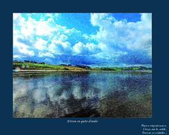 Estran en qute d'ondee (Chti-breton) Tags: pluie bleu ciel nuage marebasse pseudoaku aku