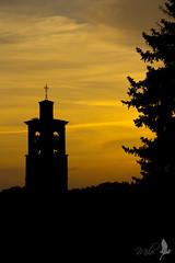 Arancione [Explored] (_milo_) Tags: sunset italy canon eos italia tramonto campanile arancione angera 18135 60d