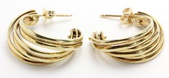 1028. Pair of Half Hoop Gold Earrings