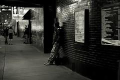 L1106237 (erlin1) Tags: 40mmnokton 2012 downtown halloween halloween2012 leica leicam8 m8 minneapolis nightphoto nightshot nighttime nokton october october2012 streetphoto streetphotography urban man leaning candid firstavenue v1 visible v1bw blackandwhite