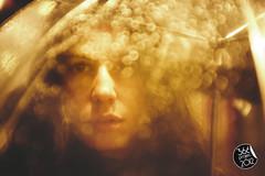 """""""Faded in rain"""" (""""Se desvaneci entre la lluvia"""") [304/366] (Domonte Design) Tags: portrait girl rain night umbrella noche drops lluvia chica dof bokeh retrato drop gotas 55mm noite gota menina jente nuit fille"""