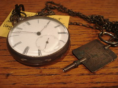 """Early 1800's silver watch with key. • <a style=""""font-size:0.8em;"""" href=""""http://www.flickr.com/photos/51721355@N02/8145879575/"""" target=""""_blank"""">View on Flickr</a>"""