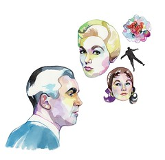 Vertigo (Laura Manfre) Tags: illustration vertigo 1958 hitchcock watercolours jamesstewart kimnovak