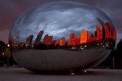 bean at sunrise (mintyfreshflavor) Tags: chicago sunrise explore millenniumpark cloudgate thebean exploretop100 explore39 vklive
