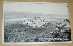 "North Korea Hamhung Hungnam fertiziler factory in vintage 1930s postcard - ""Chosen Nitrogenous Manure Company"" (moreska) Tags: blackandwhite history industry japan vintage 1930s asia factory photos antique postcard north panoramas korea retro smokestacks views empire fertilizer past rare collectibles oldvsnew olddays factories chosen denuded dprk frozenintime hillsides bygone hamhung hungnam imperialera"