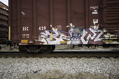 Brawl (Revise_D) Tags: railroad graffiti brawl rails tagging freight revised plantrees planttrees fr8 benching fr8heaven fr8aholics
