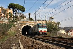 Sulle alture di Trasta (Maurizio Zanella) Tags: italia trains genova railways fs trenitalia treni ferrovie trasta e444r051 e402a023 ic511indts