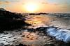 Winter sunset (Ahmed Turki) Tags: winter light sunset sea sky sun seascape beach water canon landscape eos rebel bahrain rocks wintersunset natur t3i topshots mywinners theunforgettablepictures efs1855mmis canon600d ahmedturki 890904162