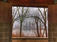 The City In The Mist (Phyllis74) Tags: city skyline cityscape indiana louisvillekentucky jeffersonville louisvilleskyline giveusyourbestshot 522013week3