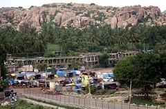 Hampi bus stand (magiceye) Tags: india bus stand bazaar karnataka hampi
