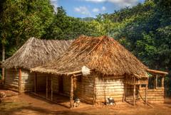Remote Farmhouse (pbr42) Tags: wood building architecture farmhouse rural farm cuba hut thatch hdr escambray sierradelescambray