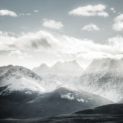 Boom (nicholasdyee) Tags: trees winter sky mountain snow canada mountains nature rock clouds square landscape scenery alberta banff rockymountains lakelouise nicholasyee boommountain nicholasdyee