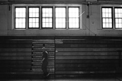 Workout (alanabramsphotography) Tags: blackandwhite bw slr film 50mm freestyle olympus diafine f18 18 gym om1 gymnasium homedeveloping aristapremium