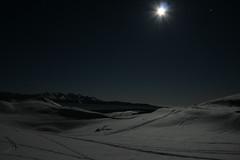 full moon walking (Blue Spirit - heart took control) Tags: moon snow luna neve belluno tracce longexp nevegal lunapiena foolmoon alpedelnevegal